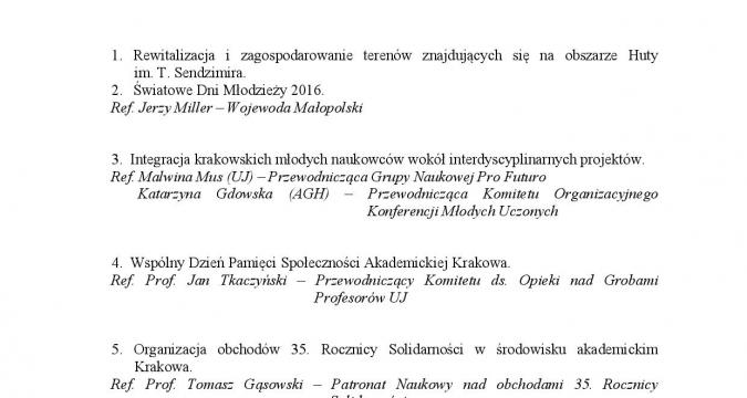 Grupa Naukowa Pro Futuro na posiedzeniu Kolegium Rektorów Szkół Wyższych Krakowa